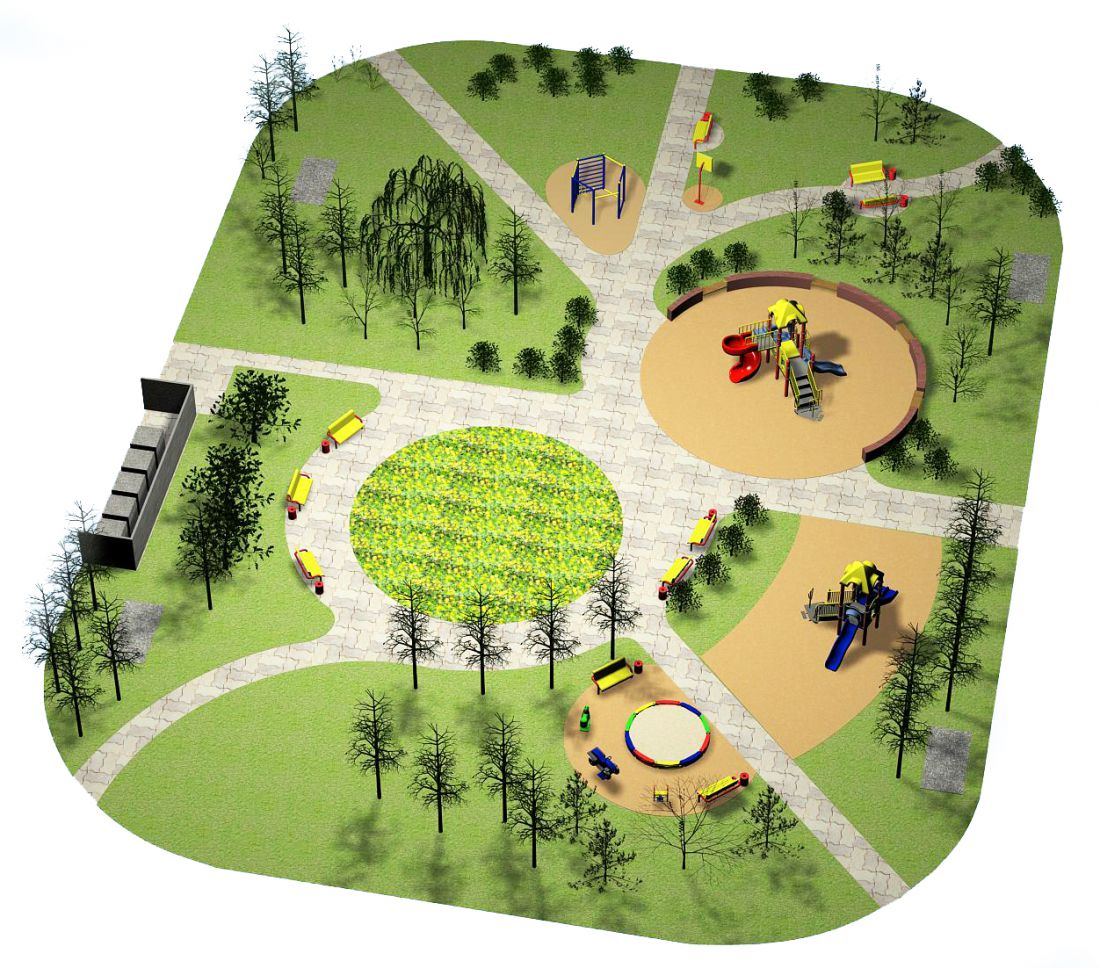 План схема детских площадок в садах